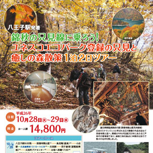 錦秋の只見線に乗ろう!ユネスコエコパーク登録の只見と癒しの森散策1泊2日ツアー